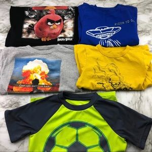 Boys Graphic T-shirt Bundle Angry Birds GAP Adidas